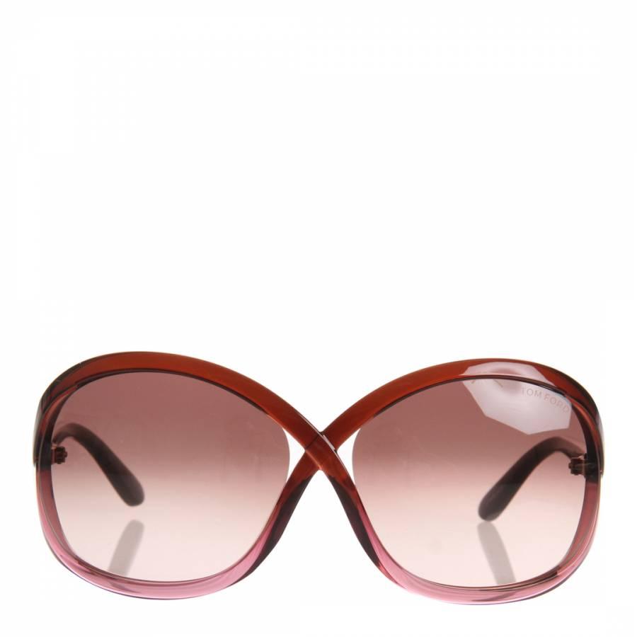 6252ebb8262b Women sRed Brown Sandra Round Sunglasses - BrandAlley