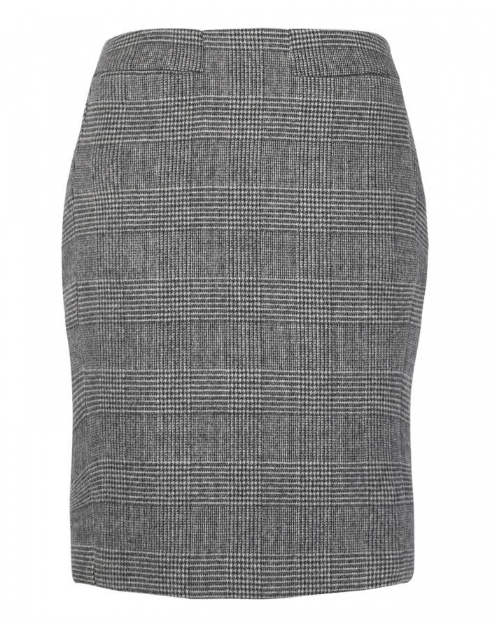 998954f8f7 Peridot London by Tags-on Grey Hollie Prince of Wales Check Wool Skirt