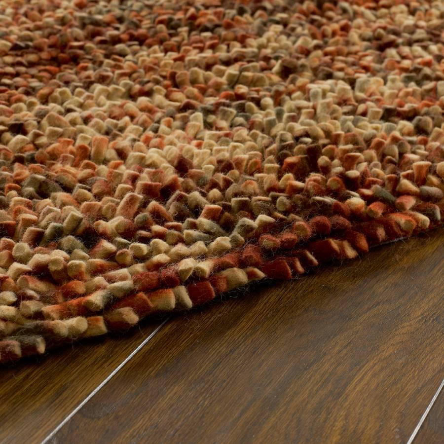 Burnt Orange Jellybean Wool Rug 160x230 - BrandAlley