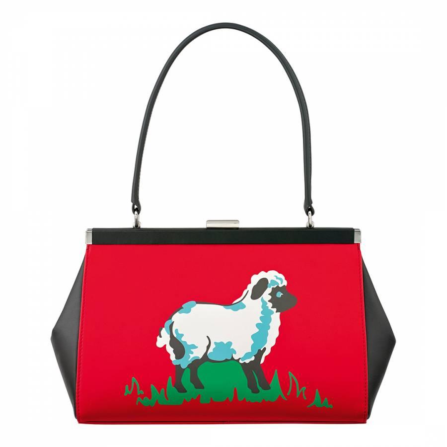 Redblack Leather Sheep Print Handbag Brandalley