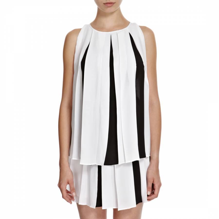 13c7c0b340849 White Black Marbury Silk Blouse - BrandAlley