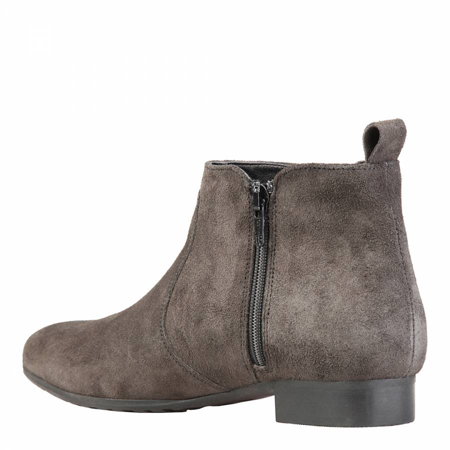 grey suede flat ankle boots brandalley