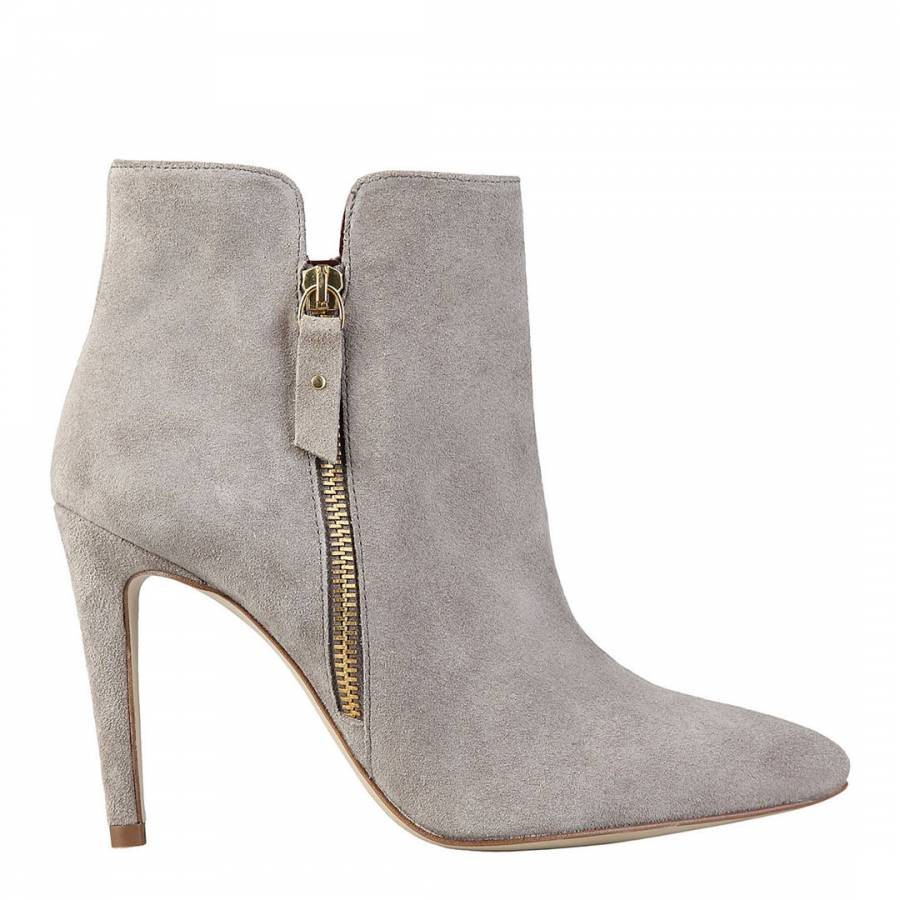 68f7ca3a735 Taupe Suede Lou Ankle Boots - BrandAlley