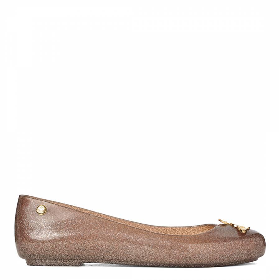 e2ff81373ad Vivienne Westwood for Melissa Bronze/Gold Glitter Orb Space Love Ballet  Pumps