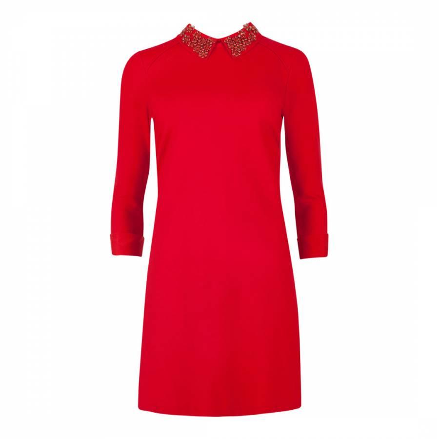 dafce2a2c Red Cassye Embellished Collar Dress - BrandAlley