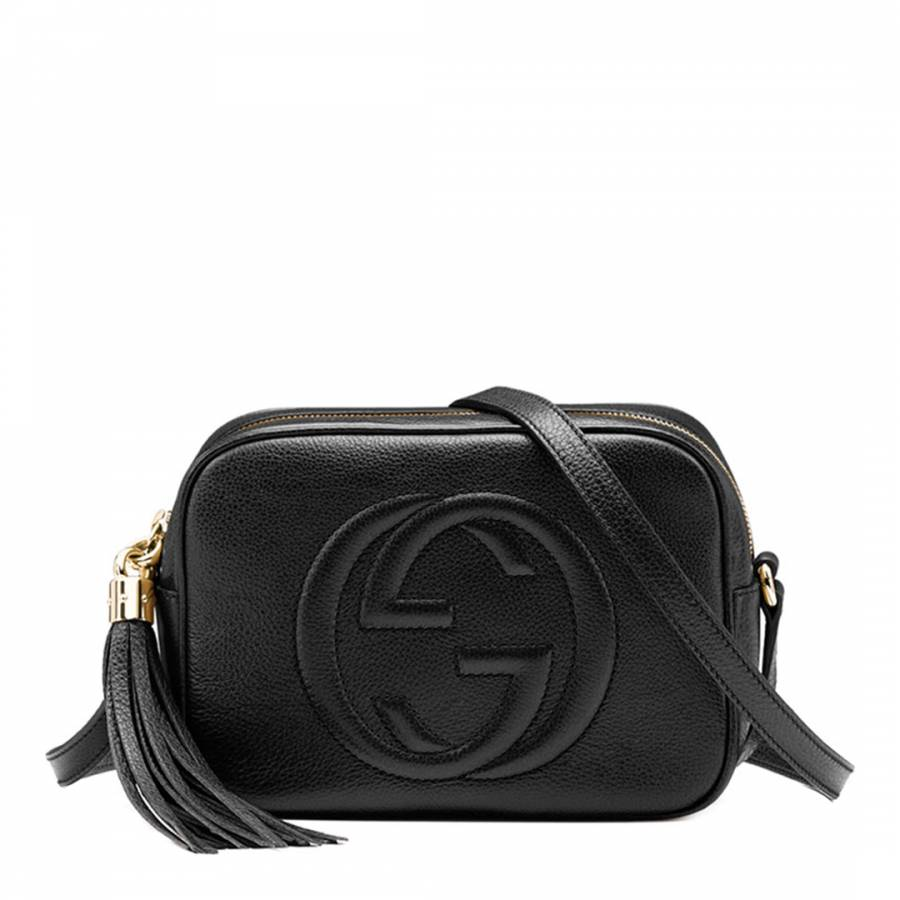 b7eb74453b8d Gucci Black Leather Disco Soho Shoulder Bag. prev. next. Zoom