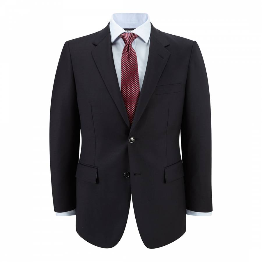 Navy Gabardine Wool Suit Jacket Brandalley