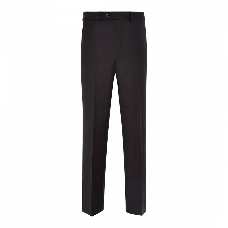Black Gabardine Wool Suit Trousers Brandalley