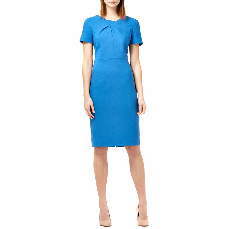 Cornflower Blue Panel Pleat Dress Brandalley