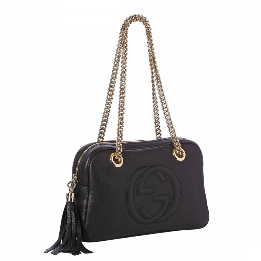 53eacaa0f768 Gucci Black Soho Leather Chain Shoulder Bag. prev. next. Zoom