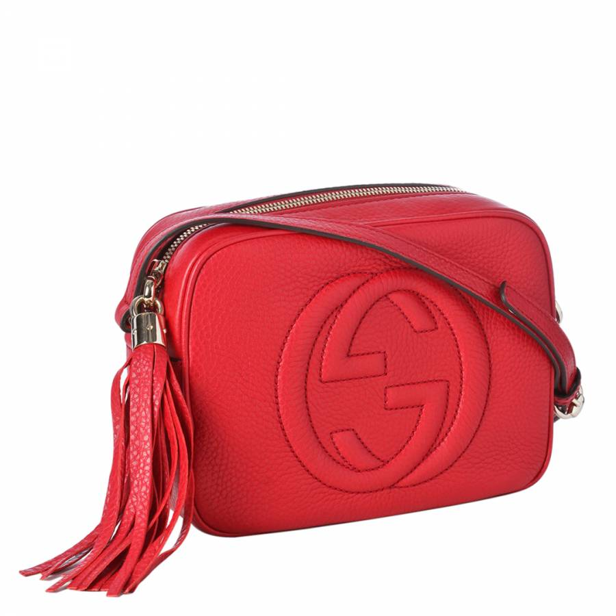 ace0c15c6fb3 Red Disco Soho Leather Cross Body Bag - BrandAlley