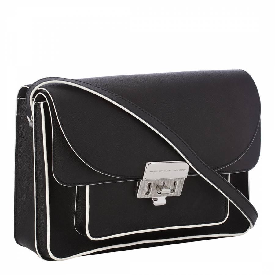 2cb935ef1 Marc by Marc Jacobs Black Leather Lip Lock Messenger Bag
