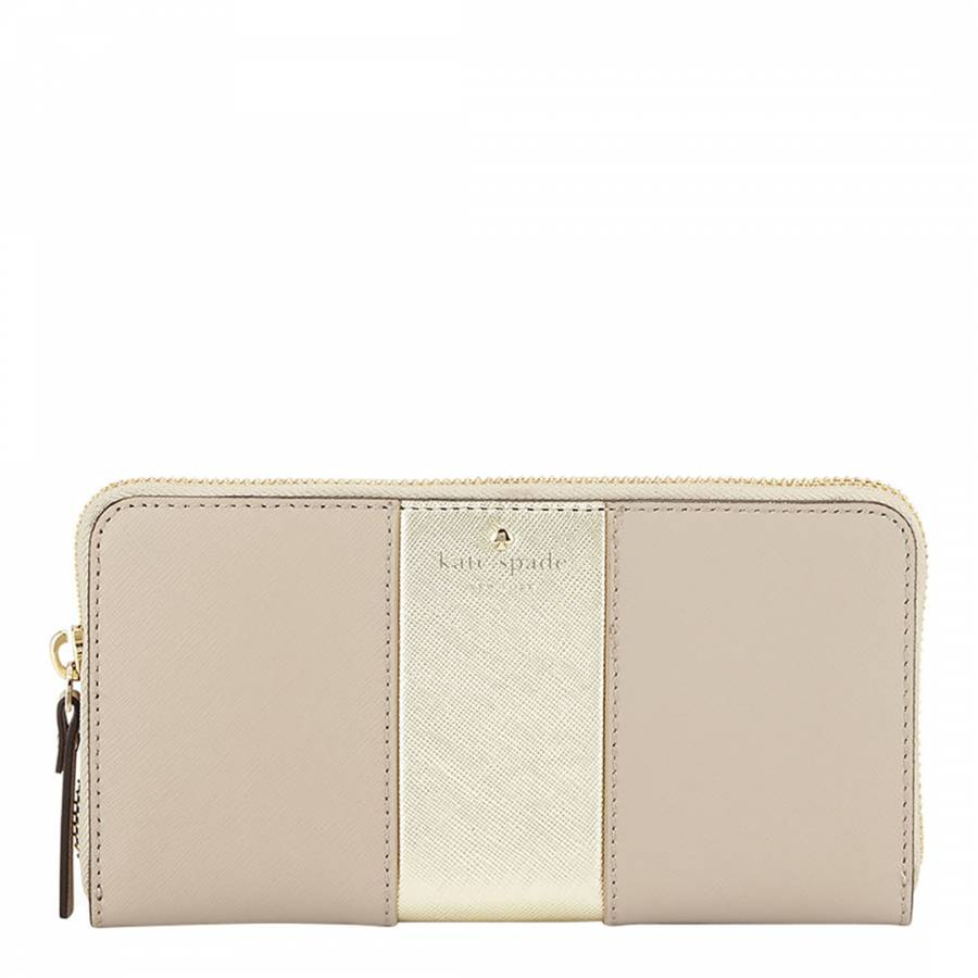 200dbb0f881c Pink/Light Gold Leather Racing Stripe Lacey Wallet - BrandAlley