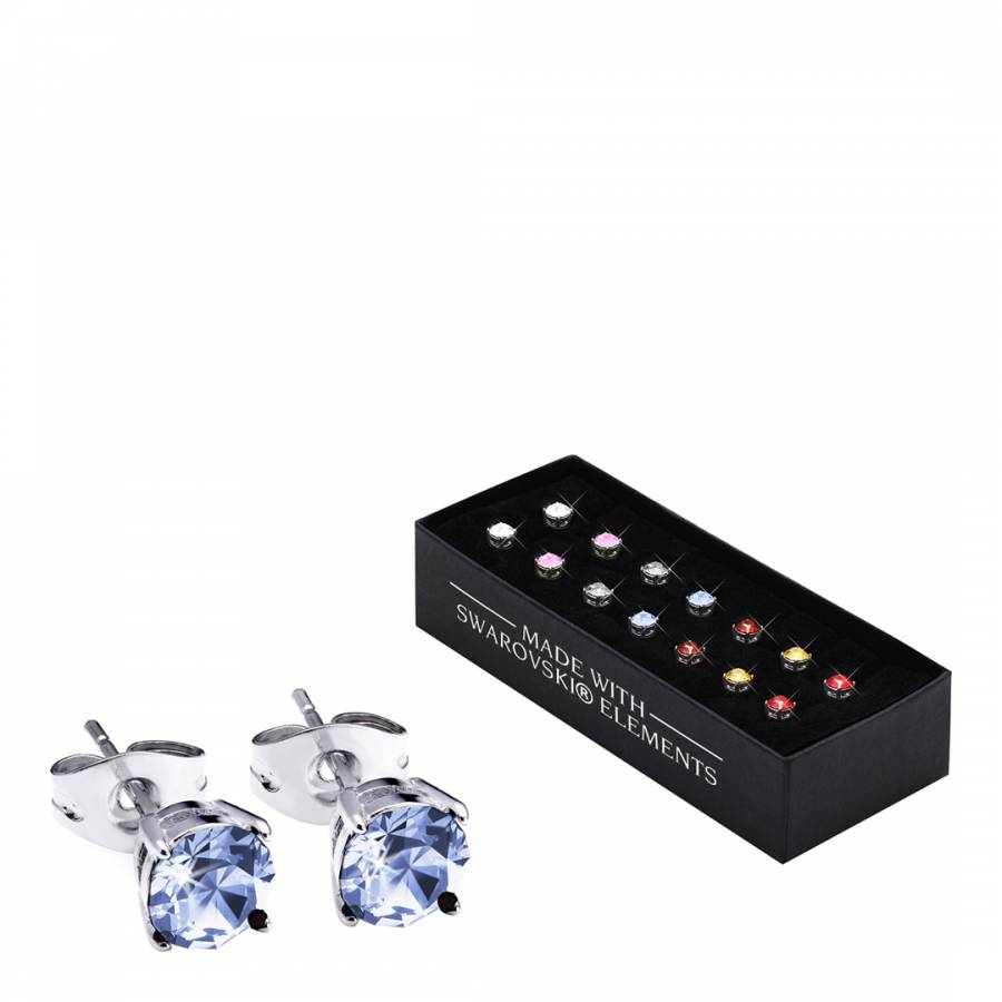 9da8f14c9 The Gemseller Set of Seven Multicoloured Brilliant Cut Crystal Stud Earrings