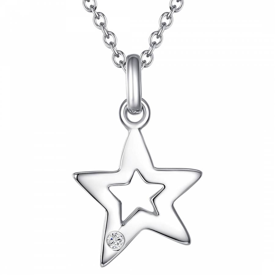 Silver diamond star pendant necklace brandalley tess diamonds silver diamond star pendant necklace aloadofball Images