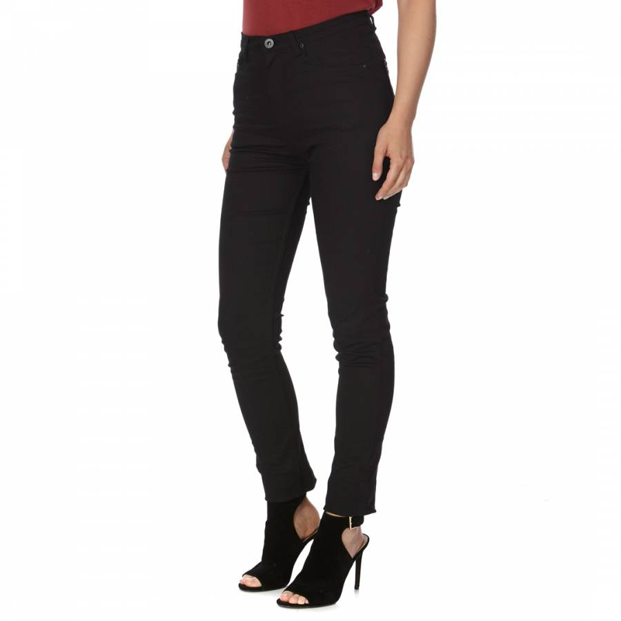 Image of Black High Waisted Skinny Stretch Jeans
