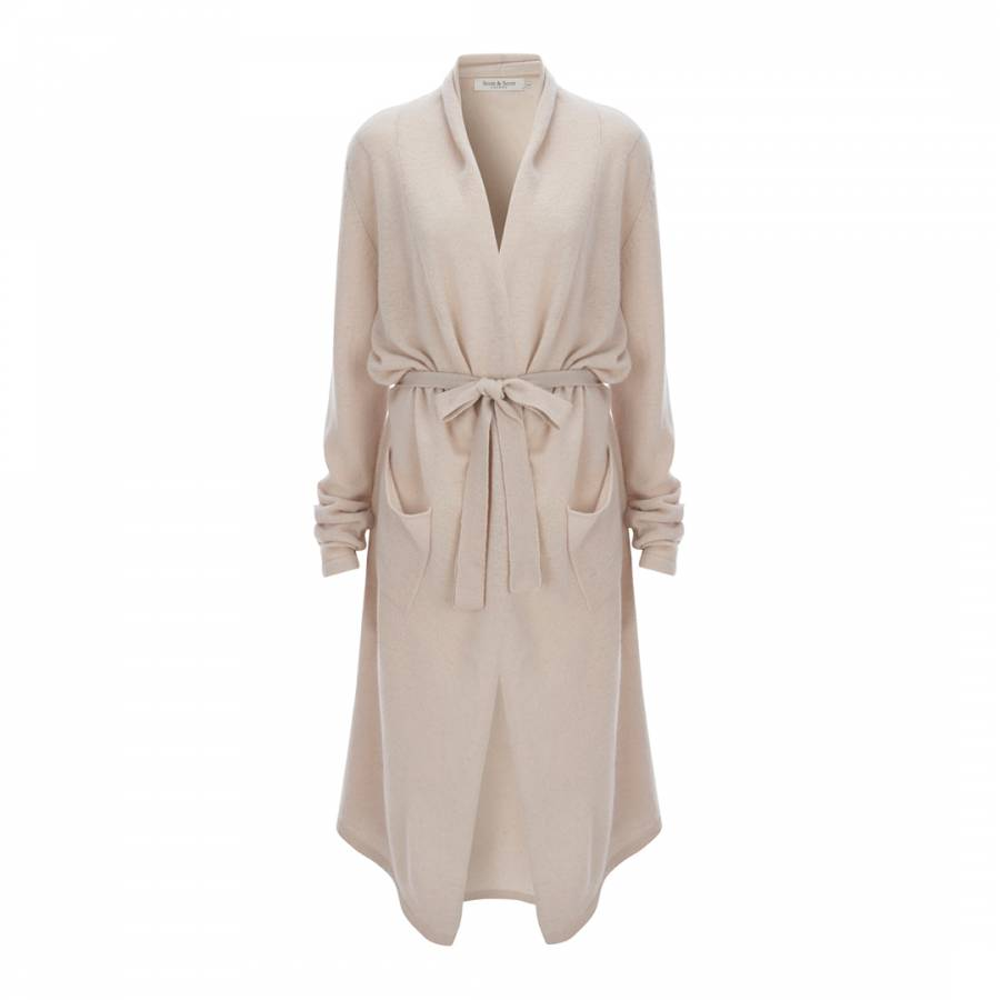 c636e0b634 Scott   Scott London Cream Cashmere Dressing Gown