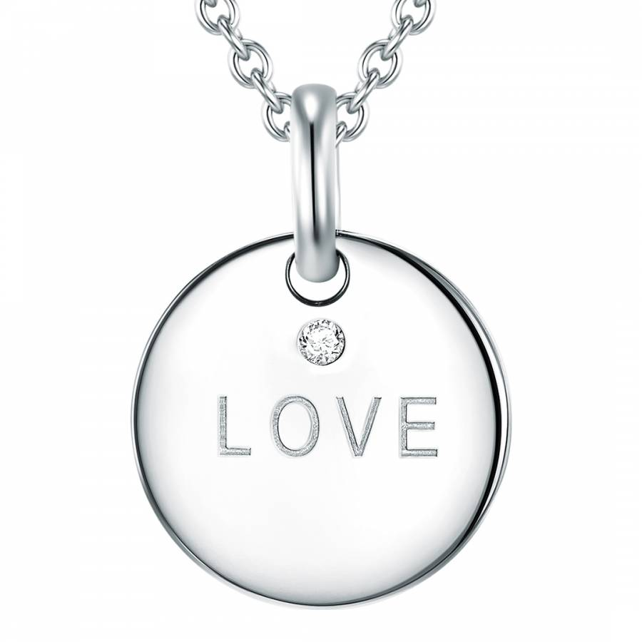 Silver love diamond pendant necklace brandalley tess diamonds silver love diamond pendant necklace aloadofball Images