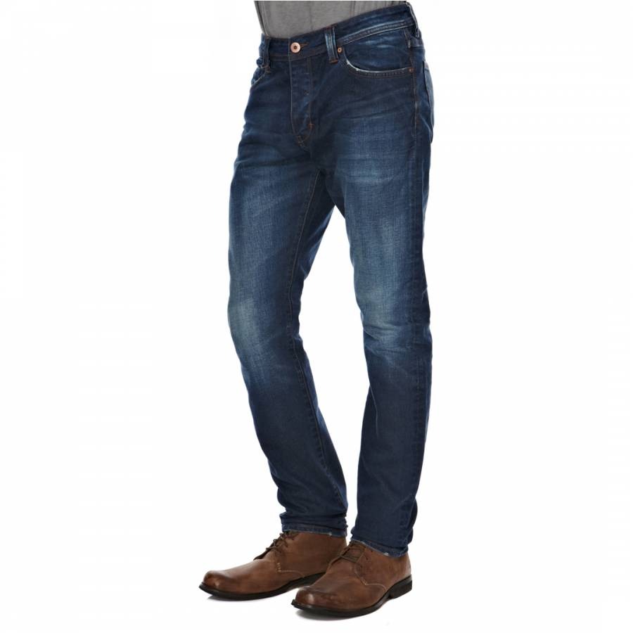 11909f2710a47 Men's Mid Blue Iggy Skinny Stretch Jeans - BrandAlley