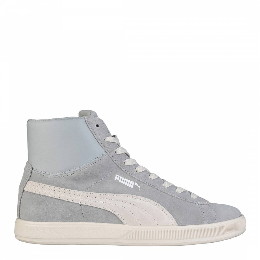 Men's Light Blue Suede Leather High Top