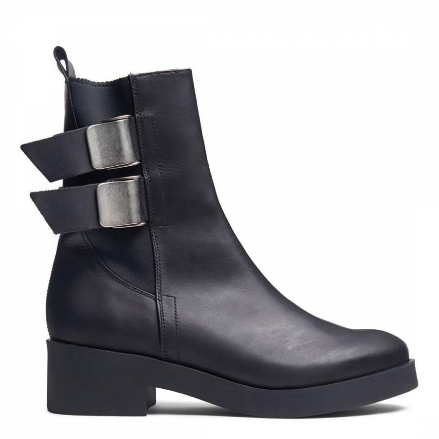 0e70f8dcfaf Miista Black Leather Jodi Ankle Boots