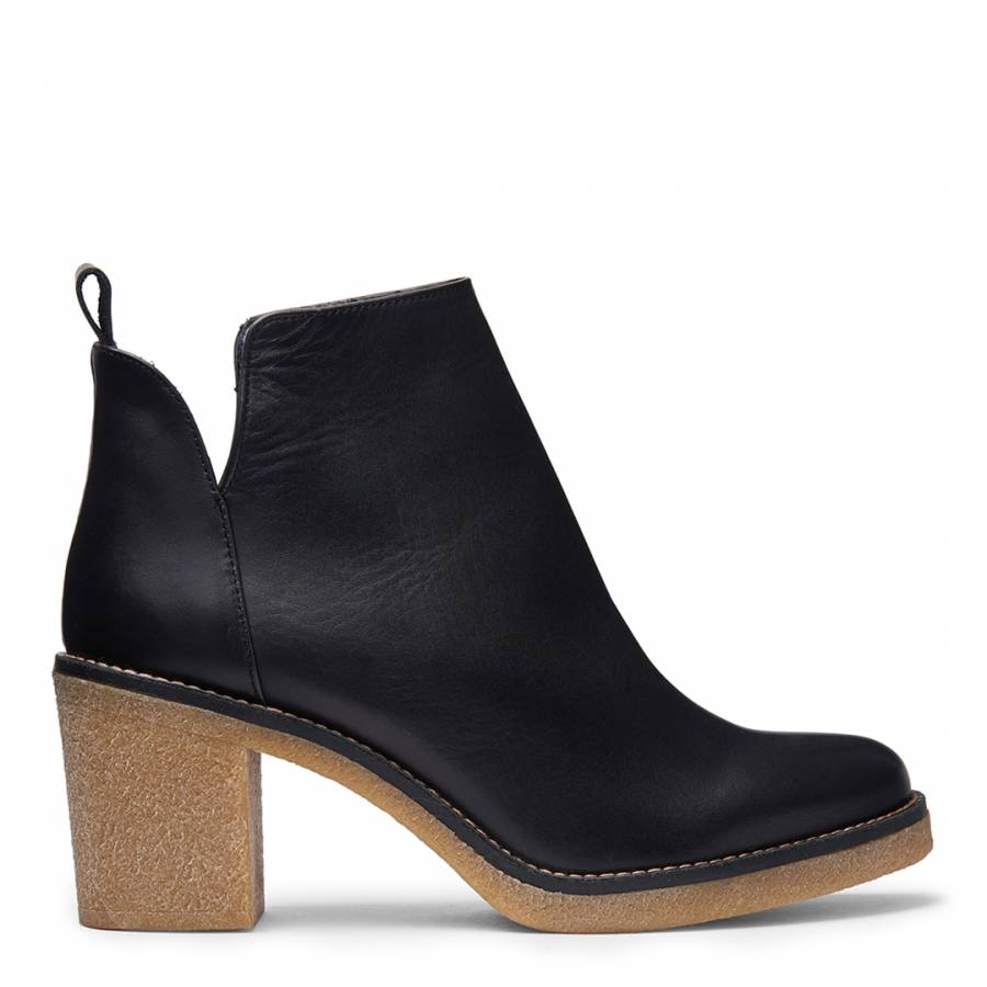 1f28fa48382e Black Leather Kendall Ankle Boots - BrandAlley