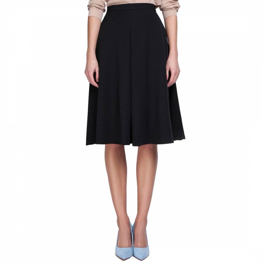 936b8a10f Black Fit/Flare Midi Skirt - BrandAlley