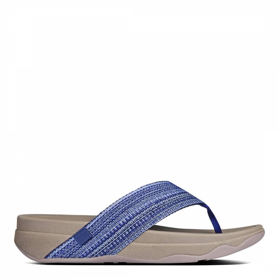 157c58737ec6 Blue Textile Surfa Twist Toe Post Mules - BrandAlley