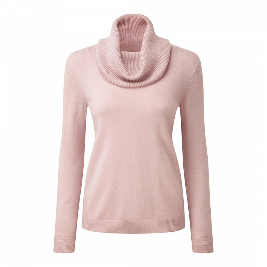 Oyster Cashmere Cowl Neck Sweater - BrandAlley