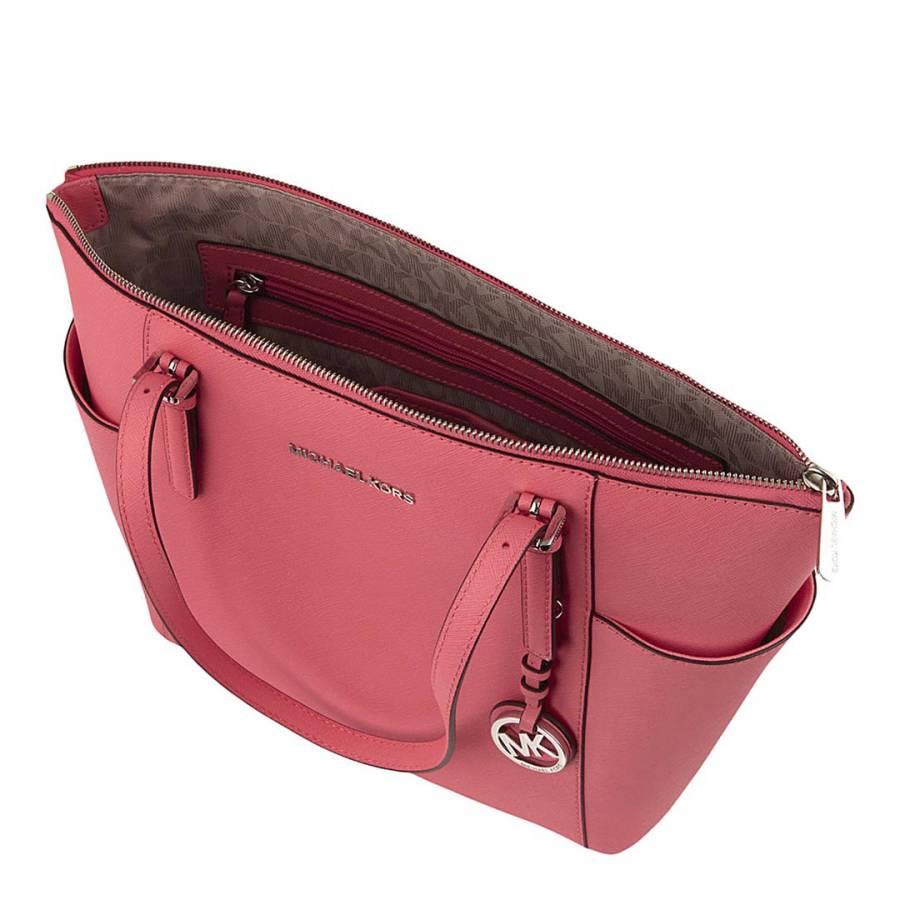 8e6981d51cc9 Coral Leather Jet Set Pocket Tote Bag - BrandAlley