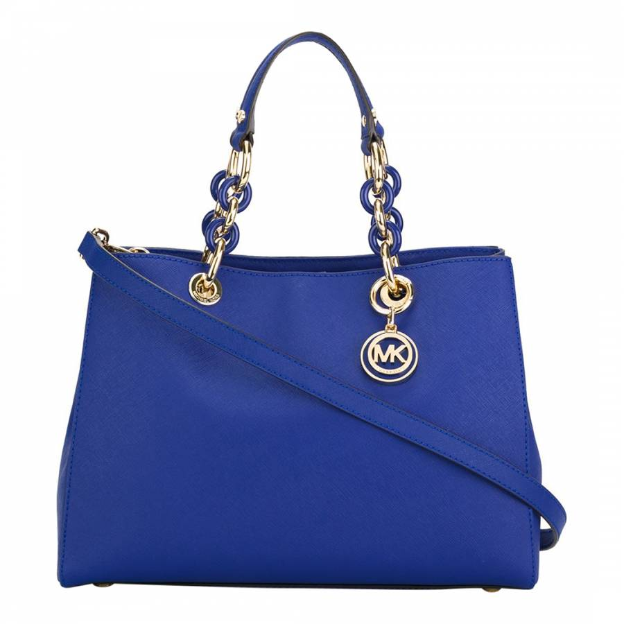 142bde4c1eb4 Michael Kors Electric Blue Leather Cynthia Tote Bag