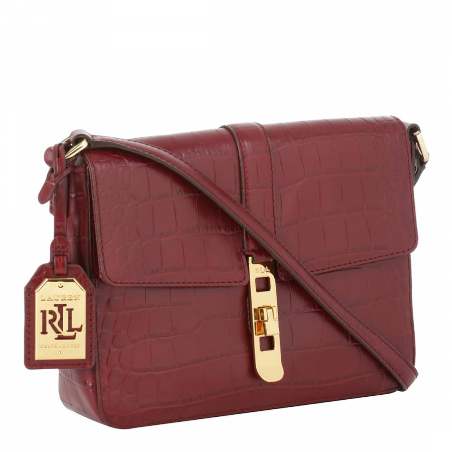 52d65a6935d6 ... australia ralph lauren dark red leather darwin cross body bag 709e8  c8a79