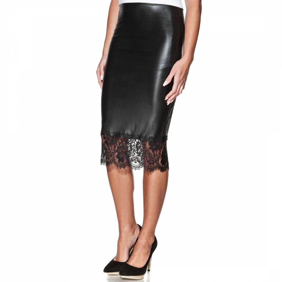 fd1176e3ea Black Leather Midi Skirt Uk | Saddha