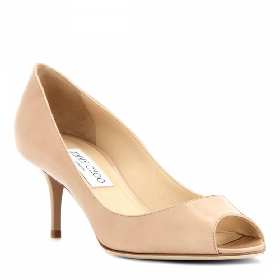 Isabel Patent Peep Toe Shoes Heel 6.5cm