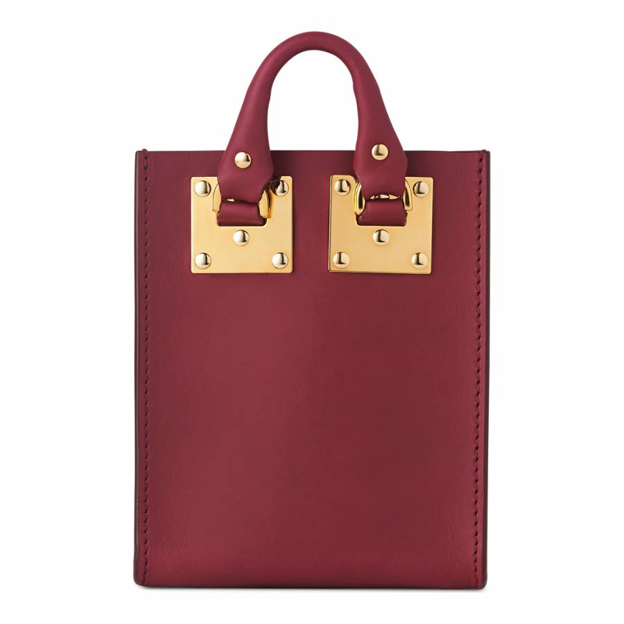 Berry Red Leather Micro Albion Tote - BrandAlley f94e16e1c7df3