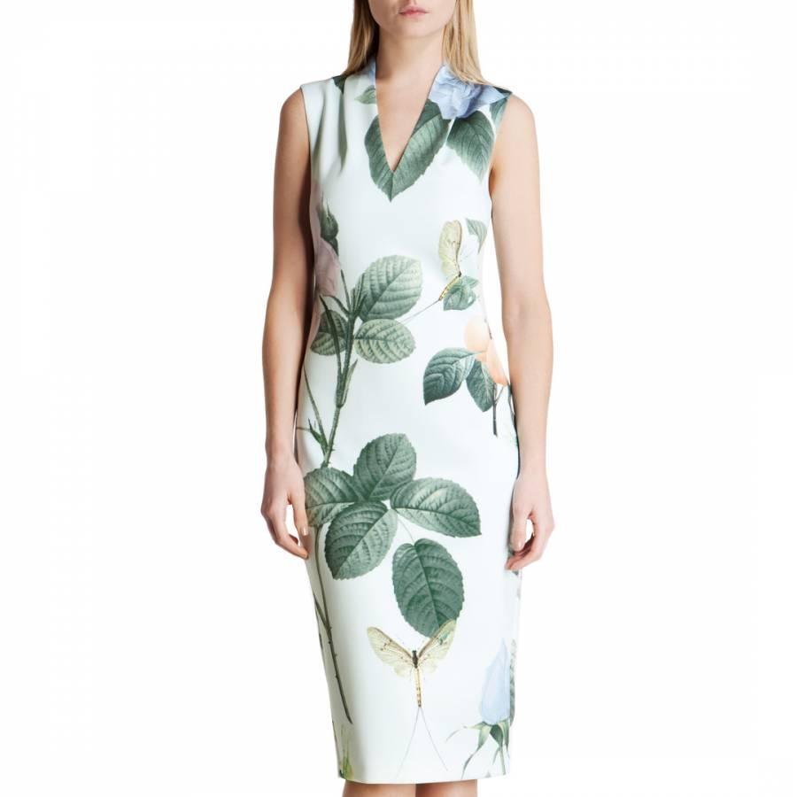 76f5f19b9 Mint Ravina Distinguishing Rose Stretch Midi Dress - BrandAlley