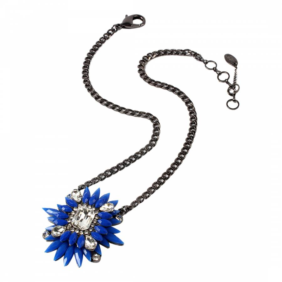 Image of Blue Rock Star Pendant Necklace