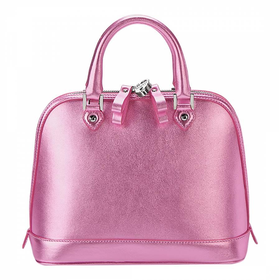 Aspinal of London Metallic Pink Leather Hepburn Mini Bag d7550ff619772