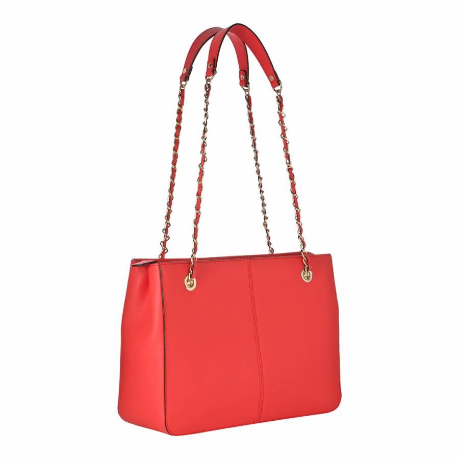 Red Leather Large Bryant Park Shoulder Bag - BrandAlley d60c637930