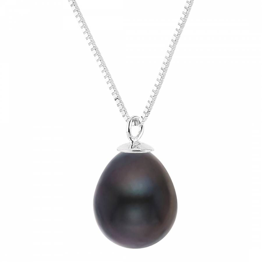 Black tahitian pearl pendant necklace brandalley just pearl black tahitian pearl pendant necklace mozeypictures Gallery