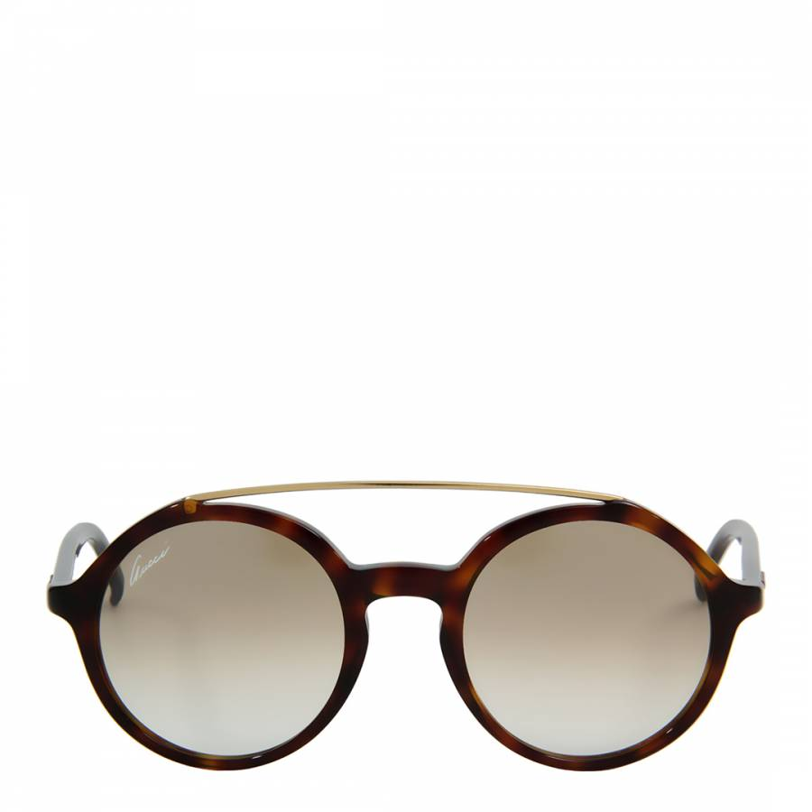 5dfeaf498a9 Women s Brown Gold Tortoiseshell Round Lens Sunglasses - BrandAlley