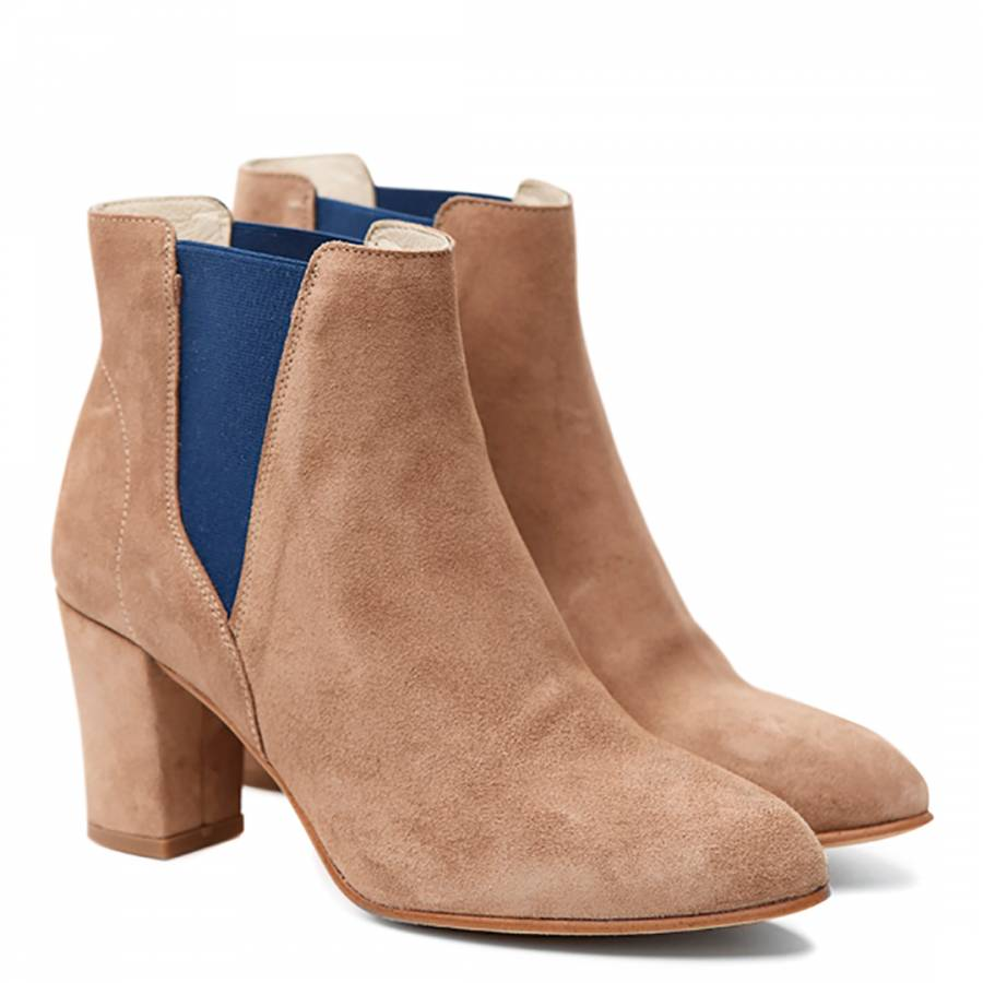 3c48f9261e3 Shoe The Bear Women's Sand Suede Hannah Ankle Boots