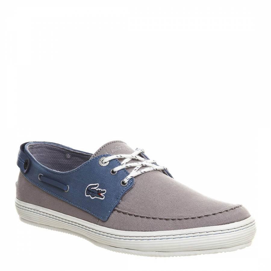 16fcbe366e495 Men s Light Grey Blue Sumac 8 AP SRM Boat Shoes - BrandAlley