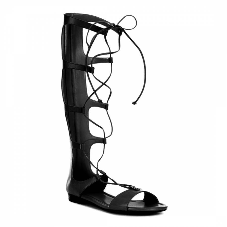 305c7841d90383 Black Sofia Leather Gladiator Sandal - BrandAlley