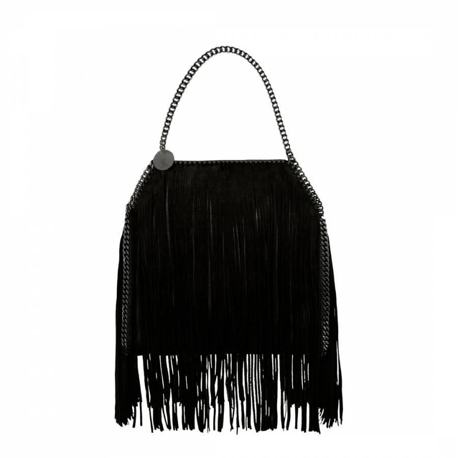 Stella McCartney Black Falabella Fringe Small Tote Bag 52fd53dafa
