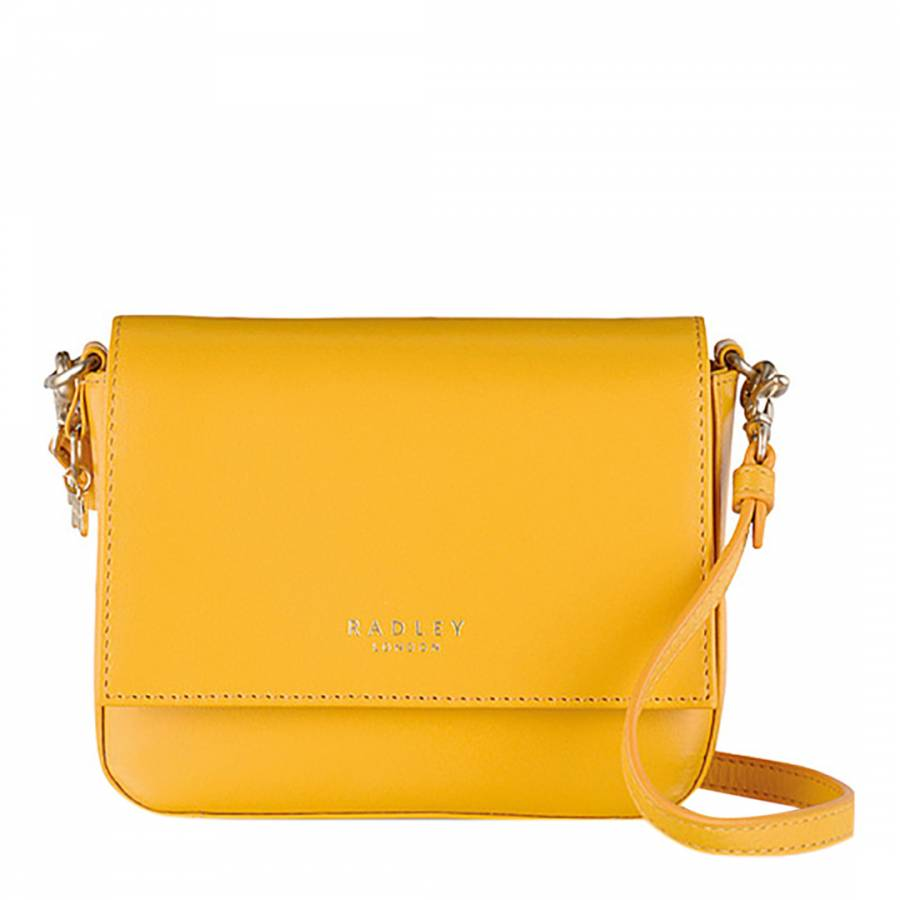 0239c3836103 Yellow Leather Floral Street Small Cross Body Bag - BrandAlley