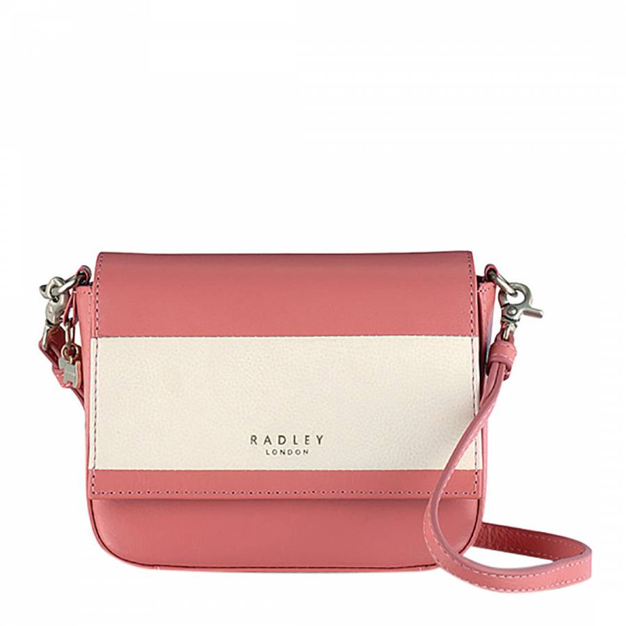 Pink Ivory Leather Floral Street Small Cross Body Bag - BrandAlley 85680ae0bb