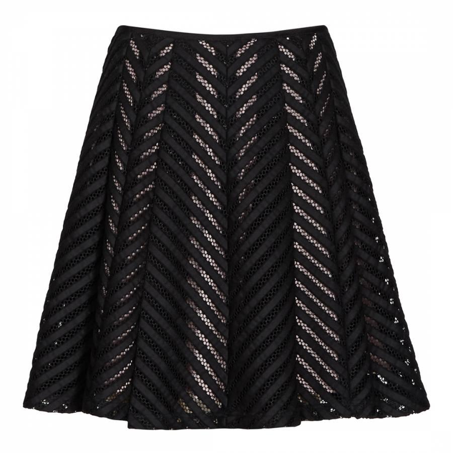 02eb19506 Black Graphic Anra Skirt - BrandAlley