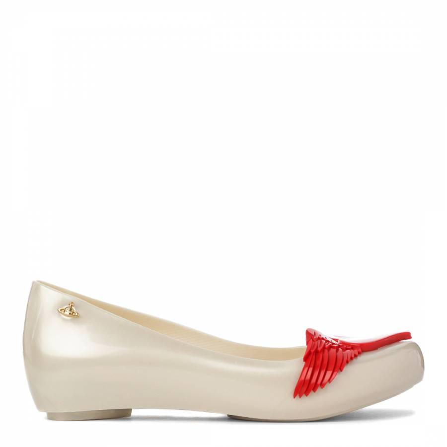 65f743c681 Vivienne Westwood for Melissa Ultragirl Pearl Red Cherub Micro Wedge Heel