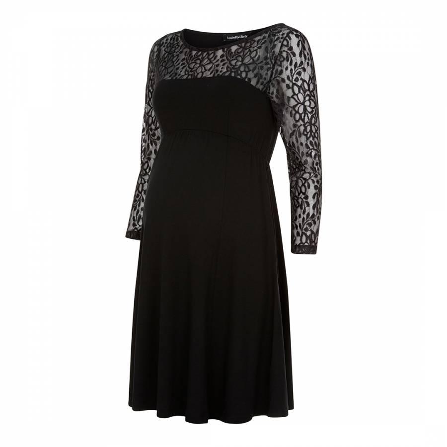 7cc33f1764dc5 Isabella Oliver Black Elberton Maternity Lace Dress